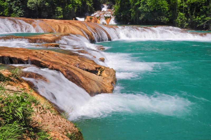 Las cascadas de agua azul en m xico en palenque chiapas for Motor para cascada de agua